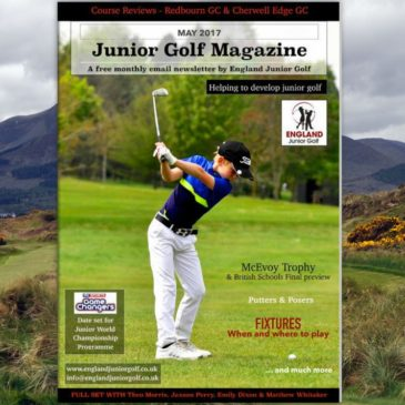 England Junior Golf Newsletter May 2017