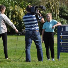 Junior golfers are stars on Sky TV